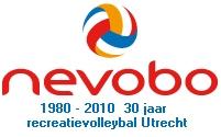 logo Nevobo 2010 30 jaar recreatievolleybal speelgebied Utrecht