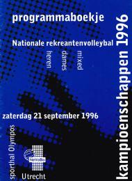 1996 1e Nationale Recreanten Kampioenschap NRK georganiseerd door de DSR Utrecht.