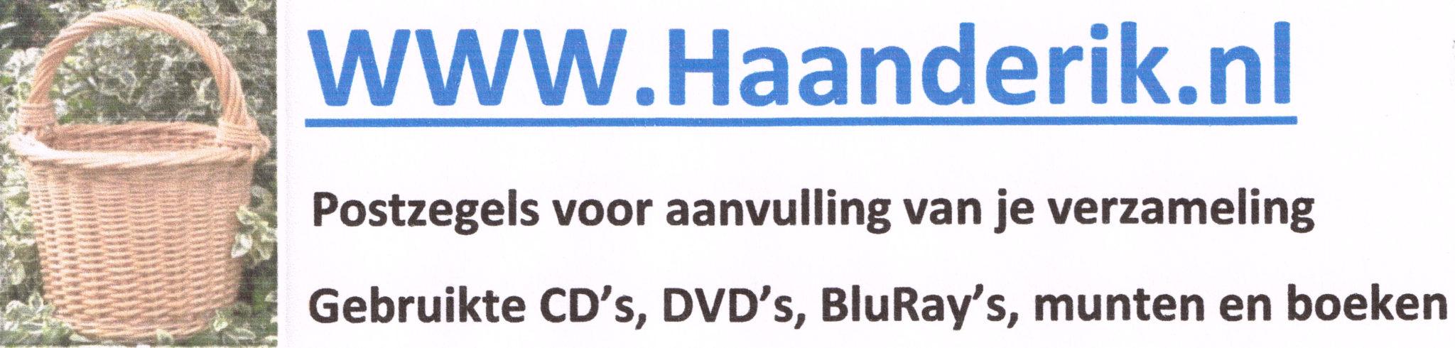 www.haanderik.nl voor aanvulling van Uw verzameling postzegels, DVD, CD, BluRay, munten en boeken